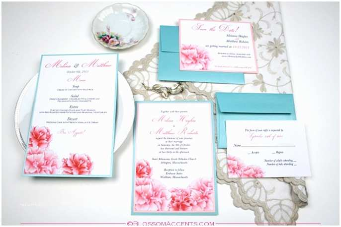 Turquoise and Hot Pink Wedding Invitations Pink and Turquoise Wedding Invitations Frompo 1