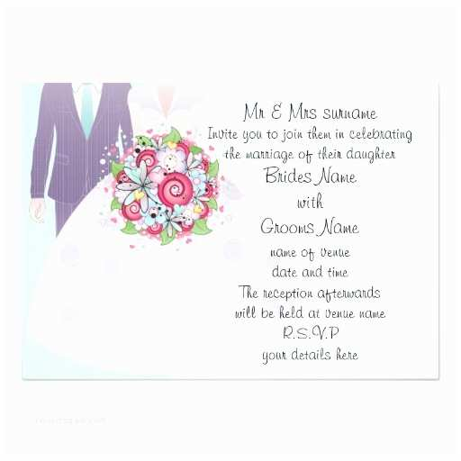 Turquoise And Hot Pink Wedding Invitations Turquoise And Pink Wedding Bride And Groom 5x7 Paper Invitation