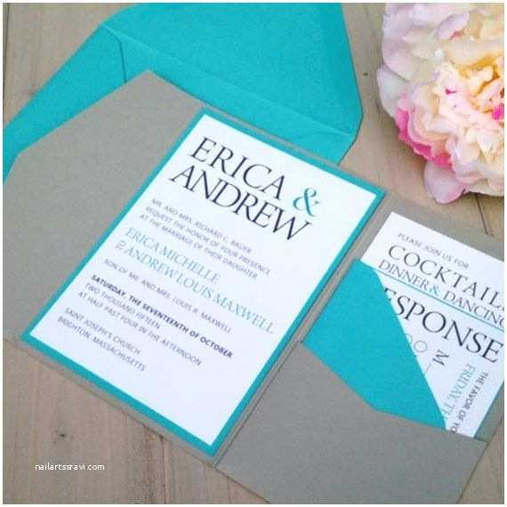 Turquoise and Hot Pink Wedding Invitations Wedding Invitations Turquoise Cobypic