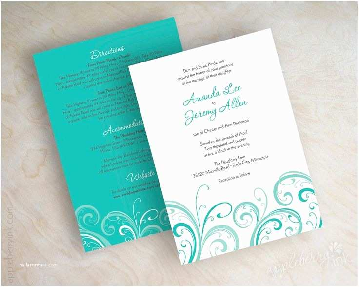 Turquoise Wedding Invitations 17 Best Images About Wedding Planner On Pinterest