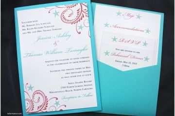 Turquoise Wedding Invitations Coral Wedding Invitations Picture