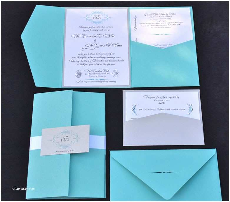 Turquoise Wedding Invitations Creative