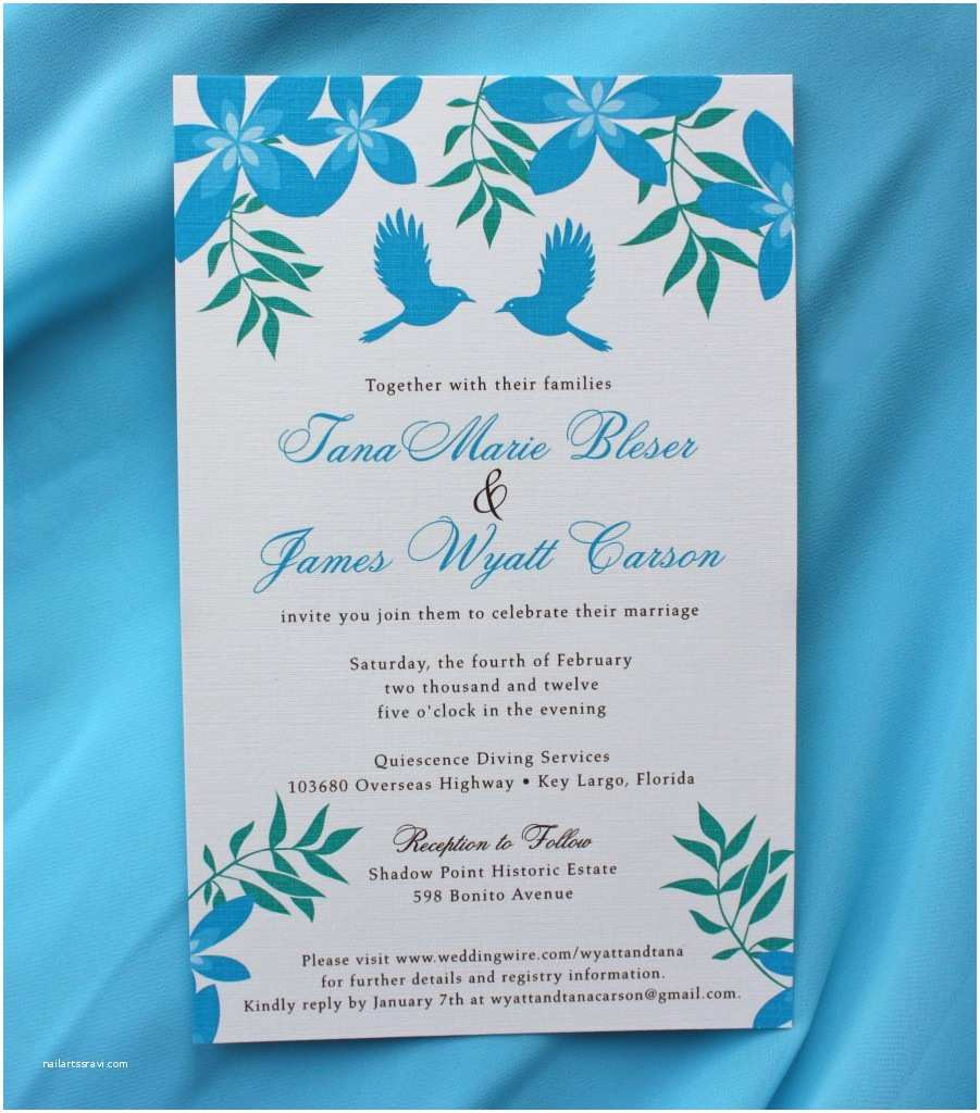 Turquoise Wedding Invitations Excellent Turquoise Wedding Invitations