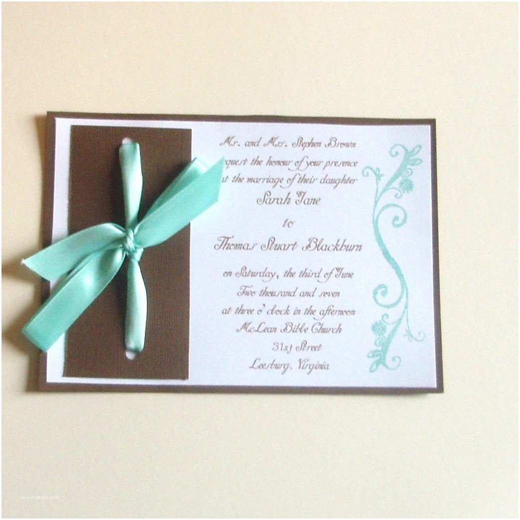 Turquoise Wedding Invitations Turquoise and Brown Wedding Invitations Sample