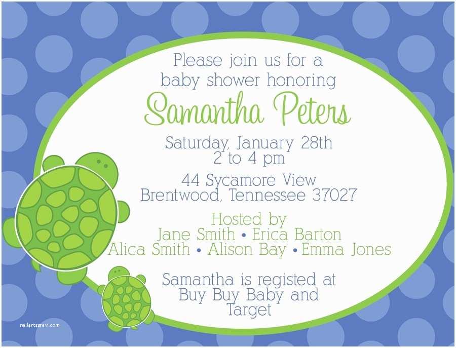 Turtle Baby Shower Invitations Baby Shower Invitations Turtle Baby Shower Invitations