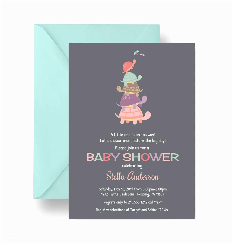 Turtle Baby Shower Invitations Turtle Baby Shower Invitation Vintage Chalkboard Invites
