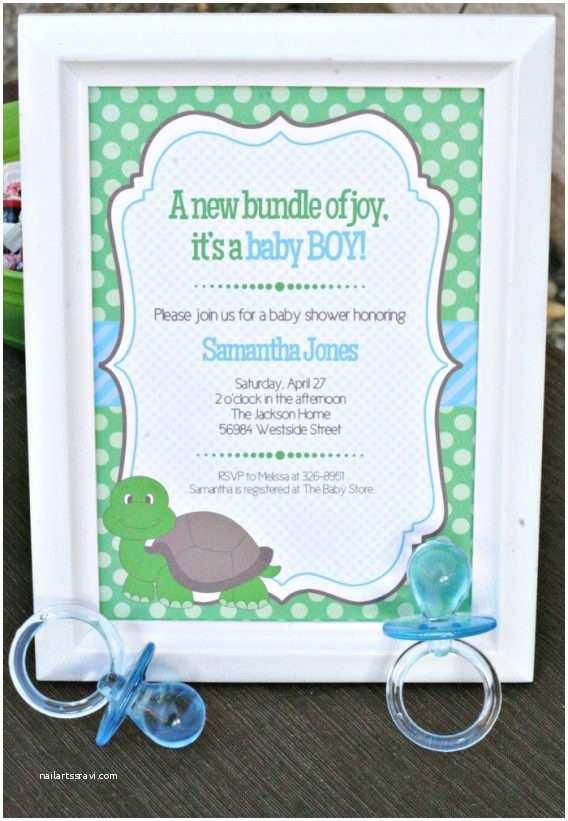 Turtle Baby Shower Invitations Turtle Baby Shower Invitations – Gangcraft