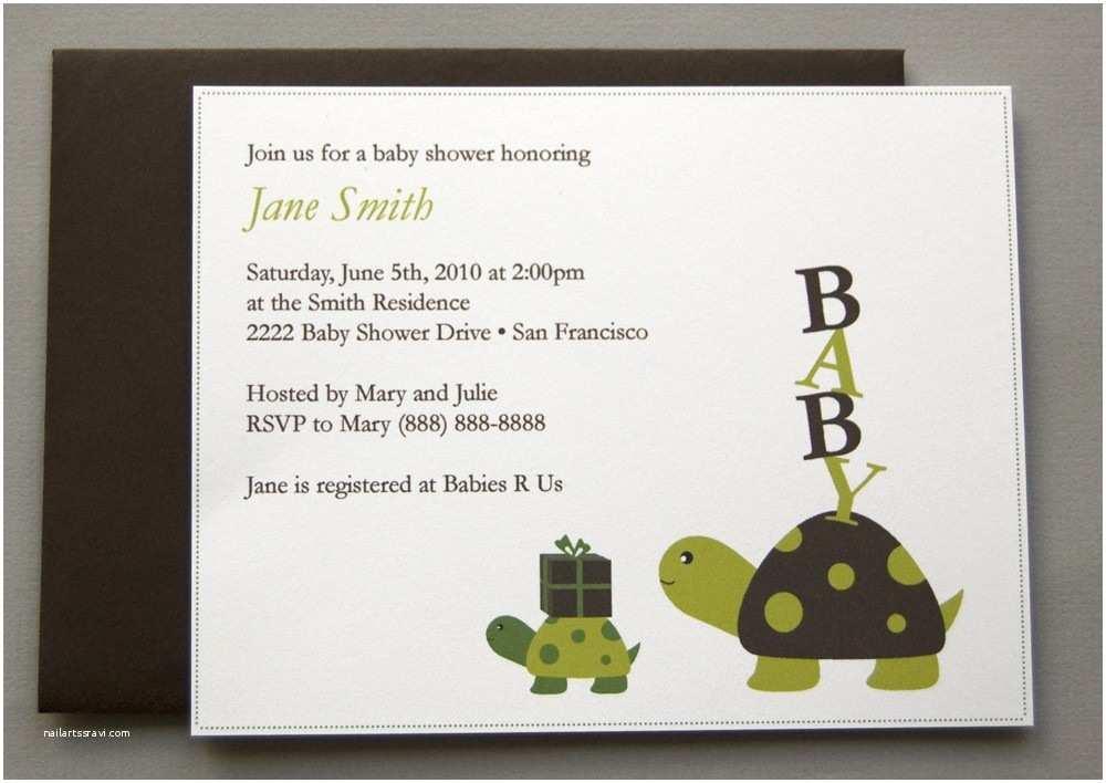 Turtle Baby Shower Invitations Turtle Baby Shower Invitations