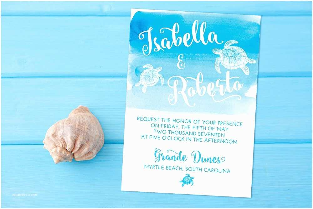 Turtle Wedding S Beach Wedding  Card Sea Turtle