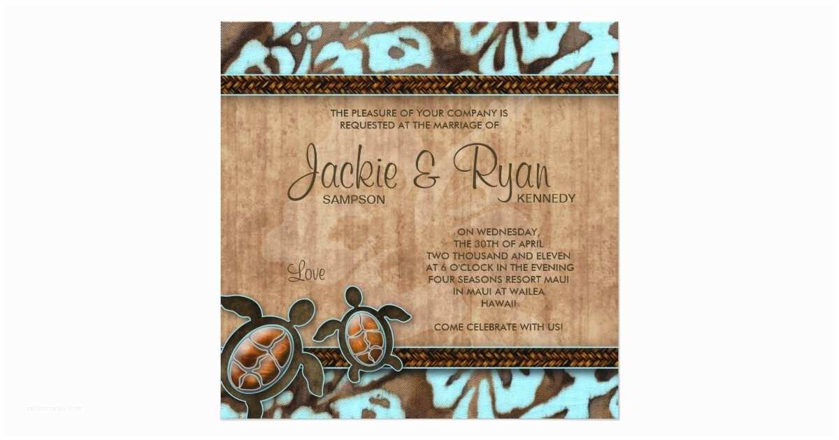 Turtle Wedding Invitations Beach Wedding Invitation Turtle Blue