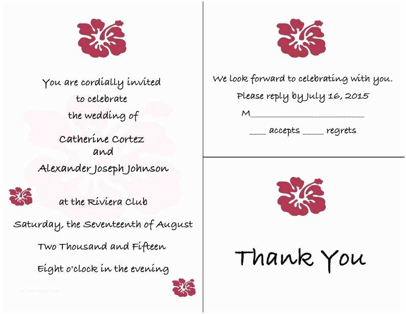 hawaiian hibiscus sea turtle wedding invitation set rsvp postcards reception invitations includes personalization digital file diy