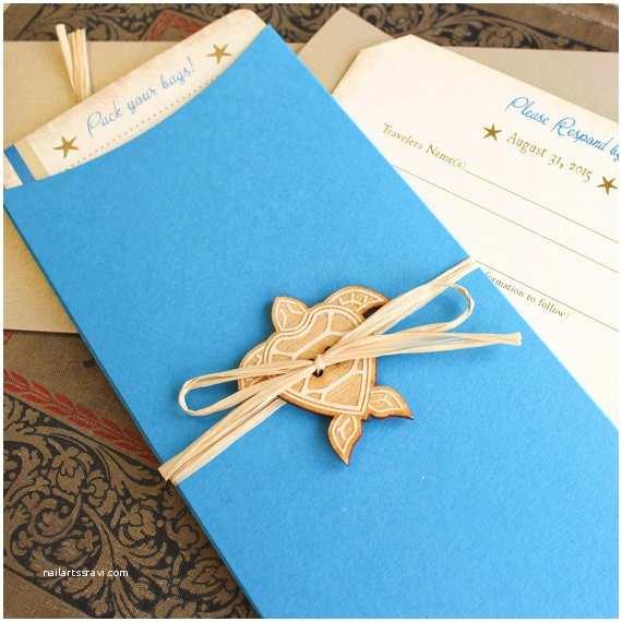 Turtle Wedding Invitations Vintage Sea Turtle Boarding Pass Wedding Invitation Key