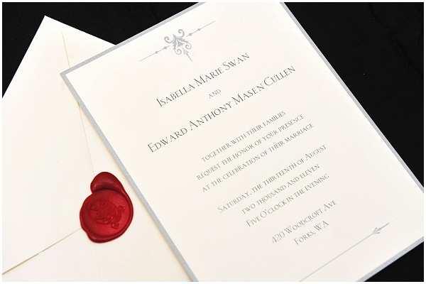 Twilight Wedding Invitation Edward and Bella S Wedding Invitation Card Edward and
