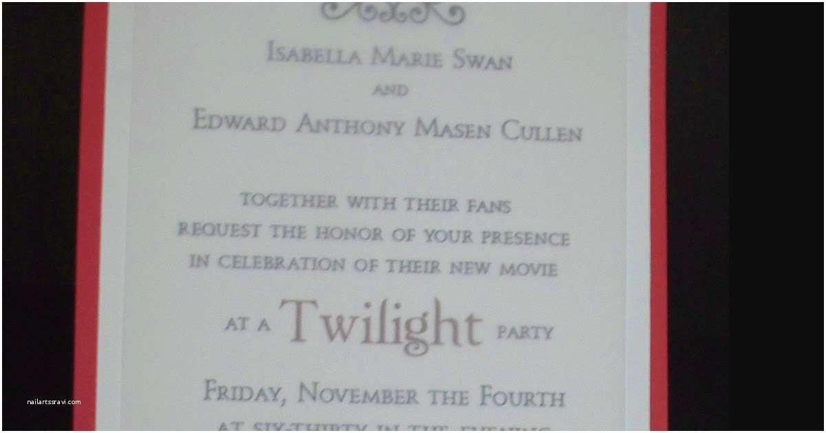 Twilight Wedding Invitation Make Do Celebrate the Twilight Saga Breaking Dawn Part 1