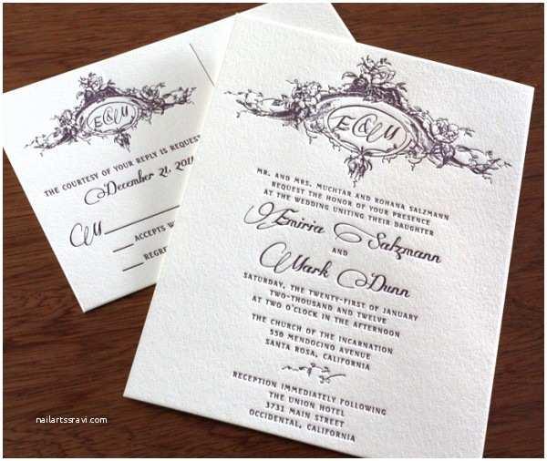 Twilight Wedding Invitation Twilight Inspired Wedding Invitations Letterpress Invites