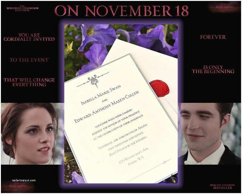 Twilight Wedding Invitation Twilight Saga Breaking Dawn Wedding Invitation by