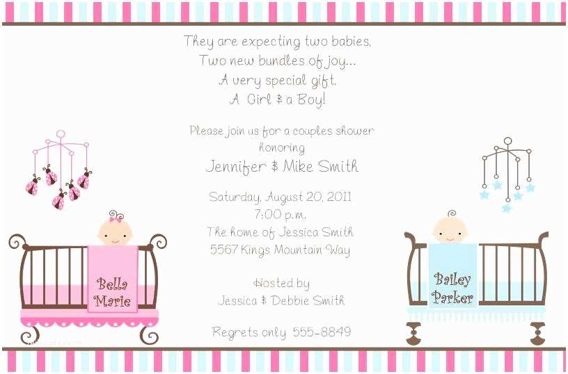 Twin Baby Shower Invitations Baby Shower Invitations for Twins