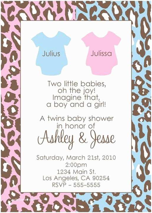 Twin Baby Shower Invitations Baby Shower Twins Invitations