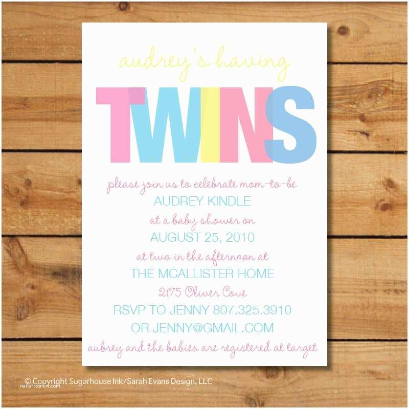 Twin Baby Shower Invitations Twin Baby Shower Invitations Boy Girl