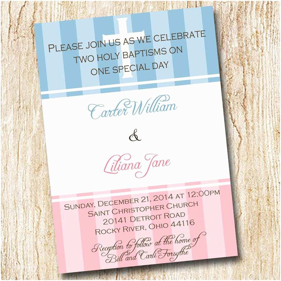 Twin Baptism Invitations Baptism Invitation Best Baptism Invitations Baptism