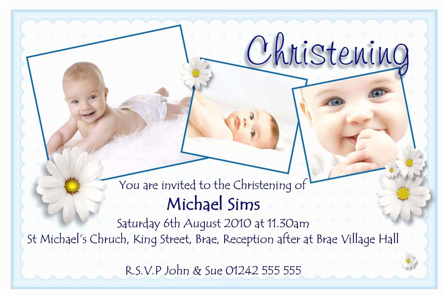 christening invitation cards for twins