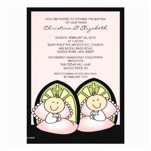 Twin Baptism Invitations Cute Twin Names