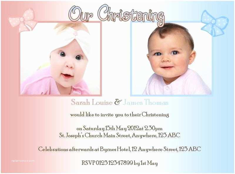 Twin Baptism Invitations Twin Baptism Invitations Cobypic