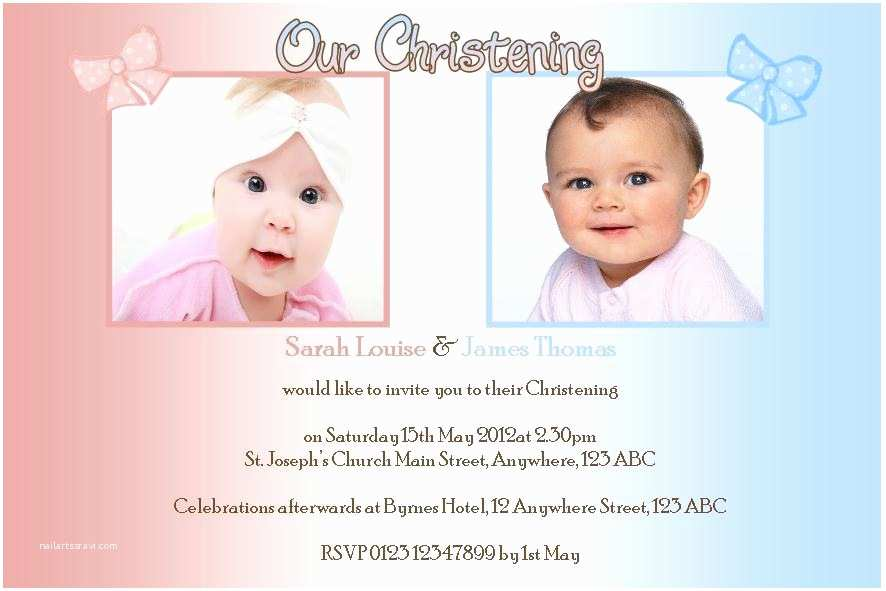 Twin Baptism Invitations Twin Baptism Invitations Example Baptism Invitations Twins