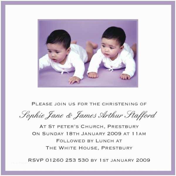 Twin Baptism Invitations Twin Baptism Invitations – Gangcraft
