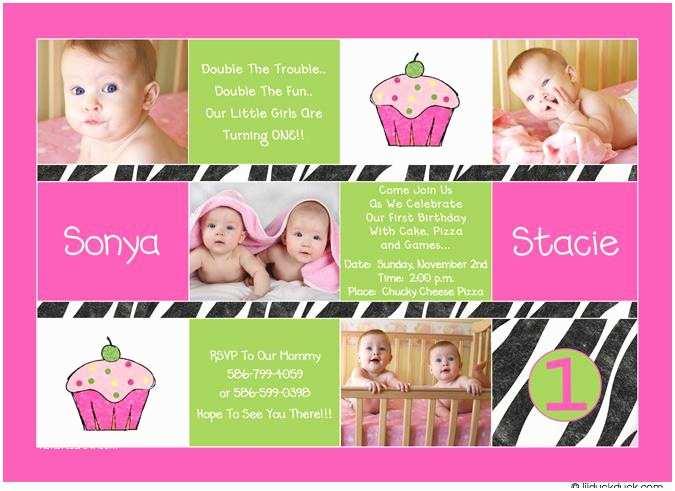 Twin Birthday Invitations 12 Twin Birthday Invitations Templates – Free Sample