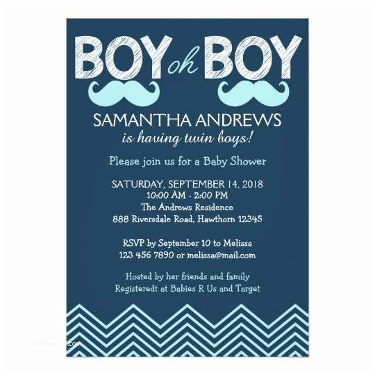 Twin Boy Baby Shower Invitations Boy Oh Boy Invitation Twins Baby Shower