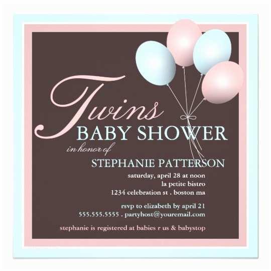 Twin Boy Baby Shower S Elegant Baby Balloon Twins Baby Shower
