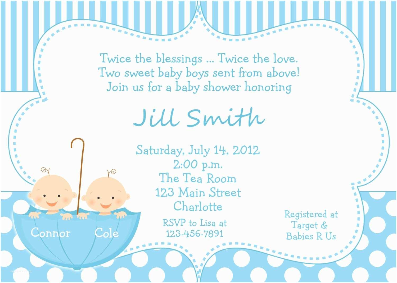 Twin Boy Baby Shower Invitations Twin Baby Boys Shower Invitation Twins Shower Blue