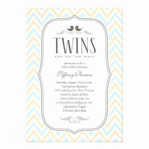 "Twin Boy Baby Shower Invitations Twin Boy Baby Shower Invitations 5"" X 7"" Invitation Card"