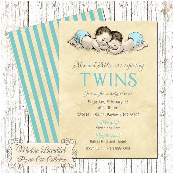 Twin Boy Baby Shower Invitations Twin Boy Baby Shower Invitations