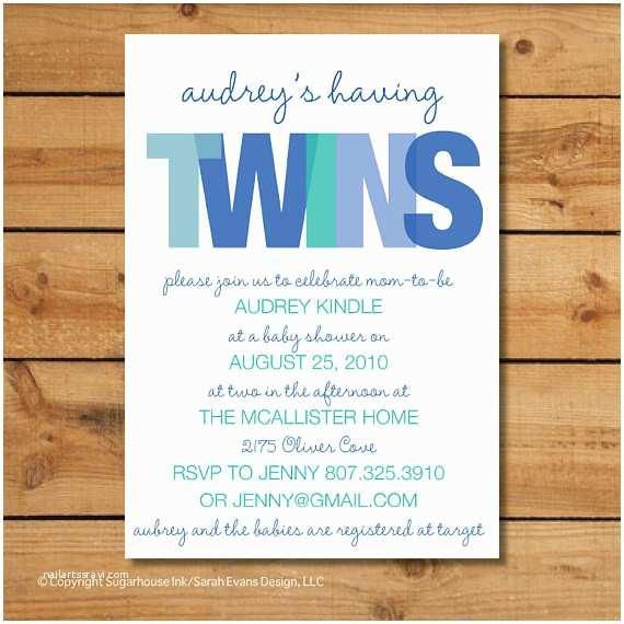 Twin Boy Baby Shower Invitations Twin Boys Baby Shower Invitation Twins