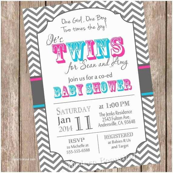 Twin Boy Baby Shower Invitations Twins Baby Shower Invitation Twin Girl Twin Boy Boy