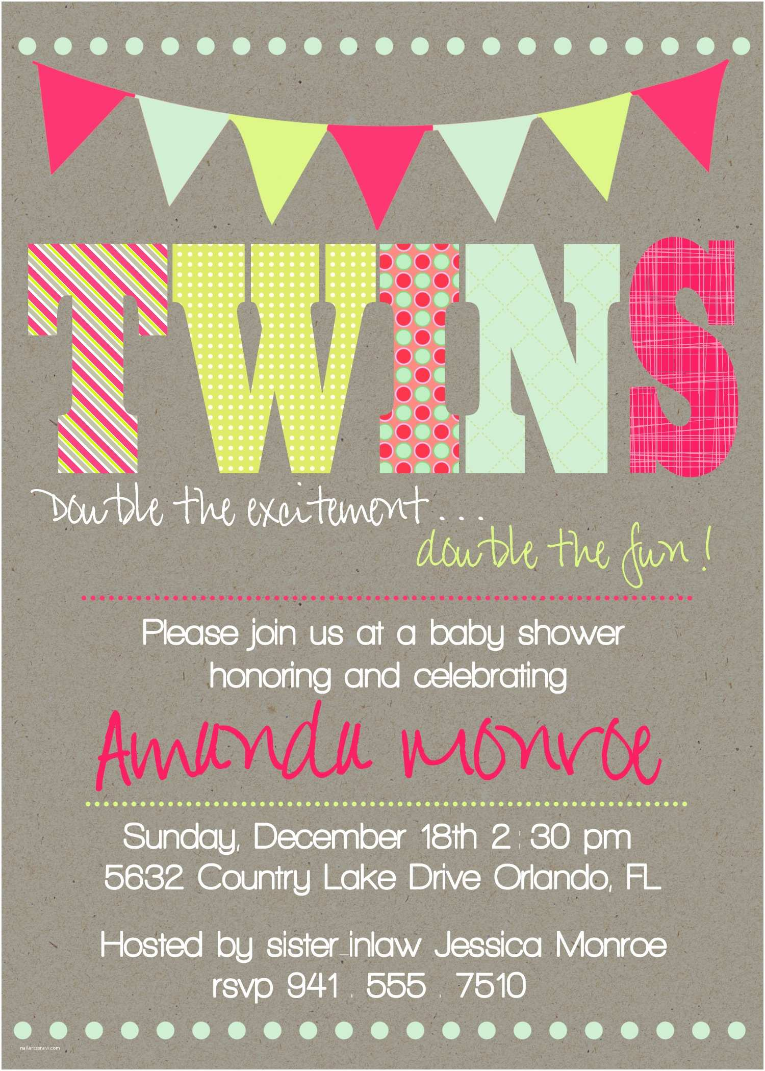 Twin Girl Baby Shower Invitations Design Twin Baby Shower Invitations Walmart Twins Baby