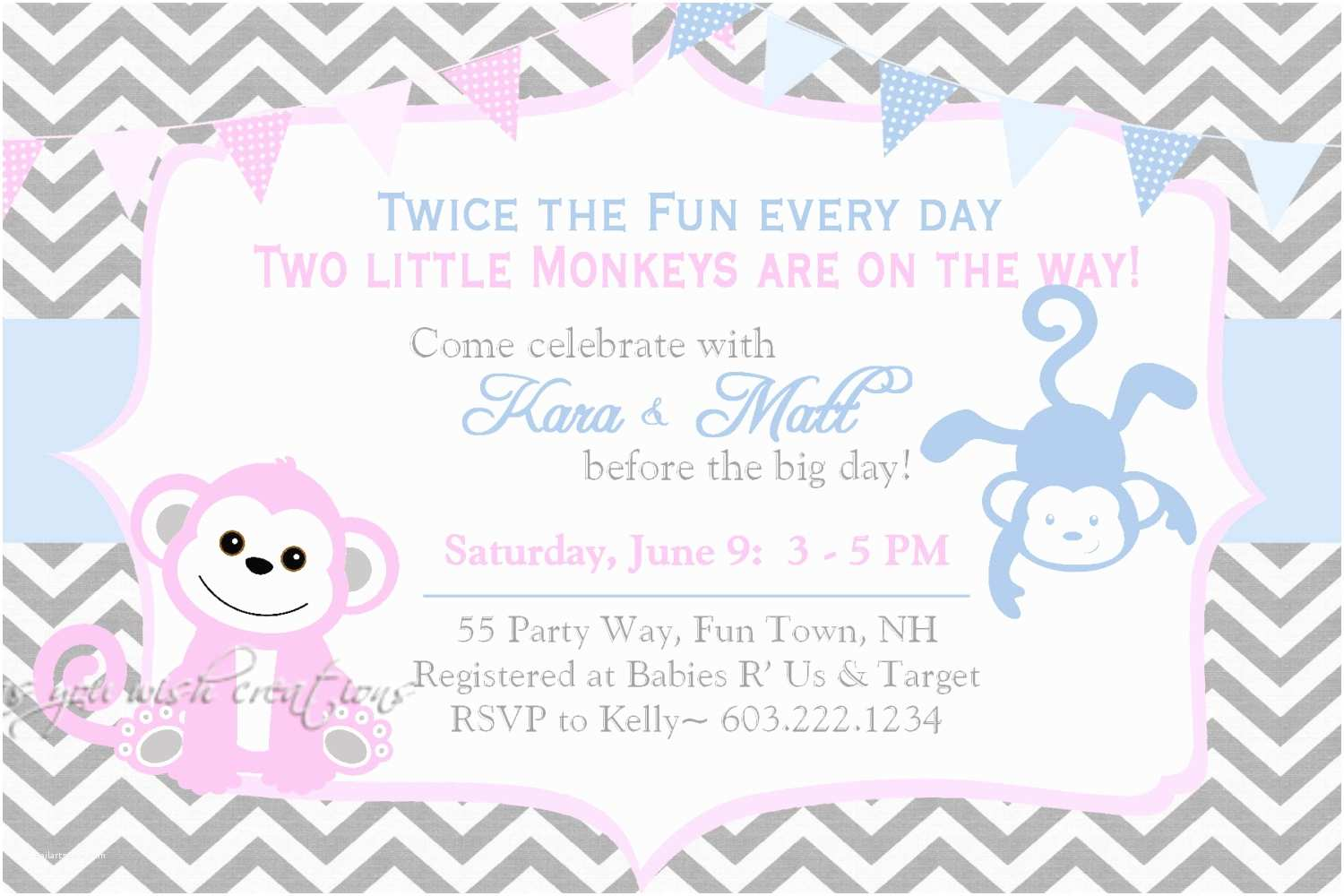 Twin Girl Baby Shower Invitations Template Twins Baby Shower Invitation Wording