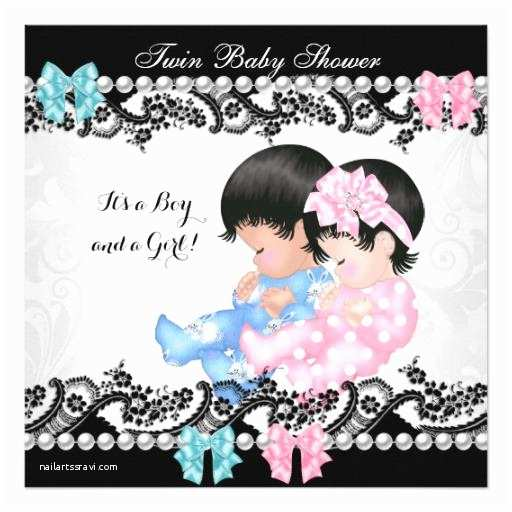 Twin Girl Baby Shower Invitations Twin Baby Shower Invitations