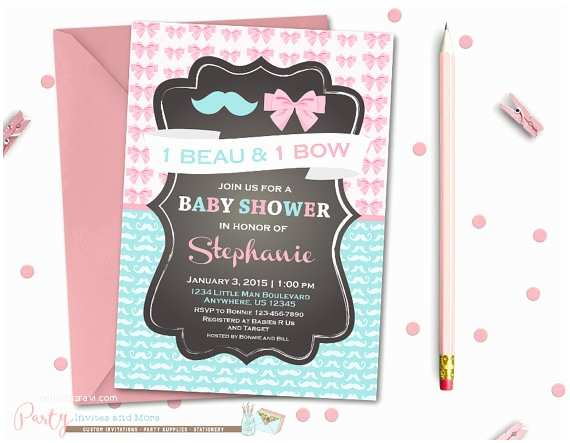 twins baby shower invitation boygirl
