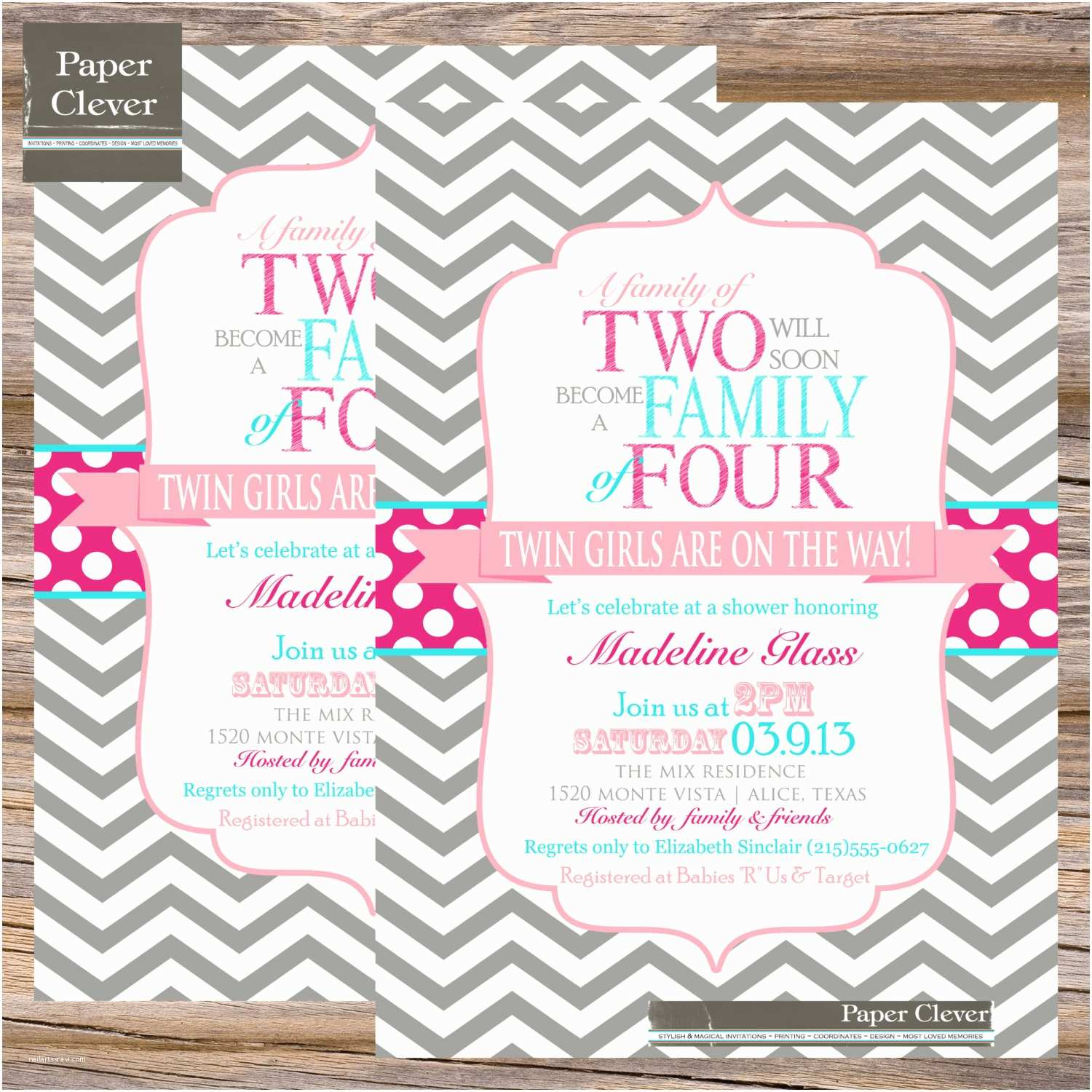 Twin Girl Baby Shower Invitations Twins Baby Shower Invitation Wording
