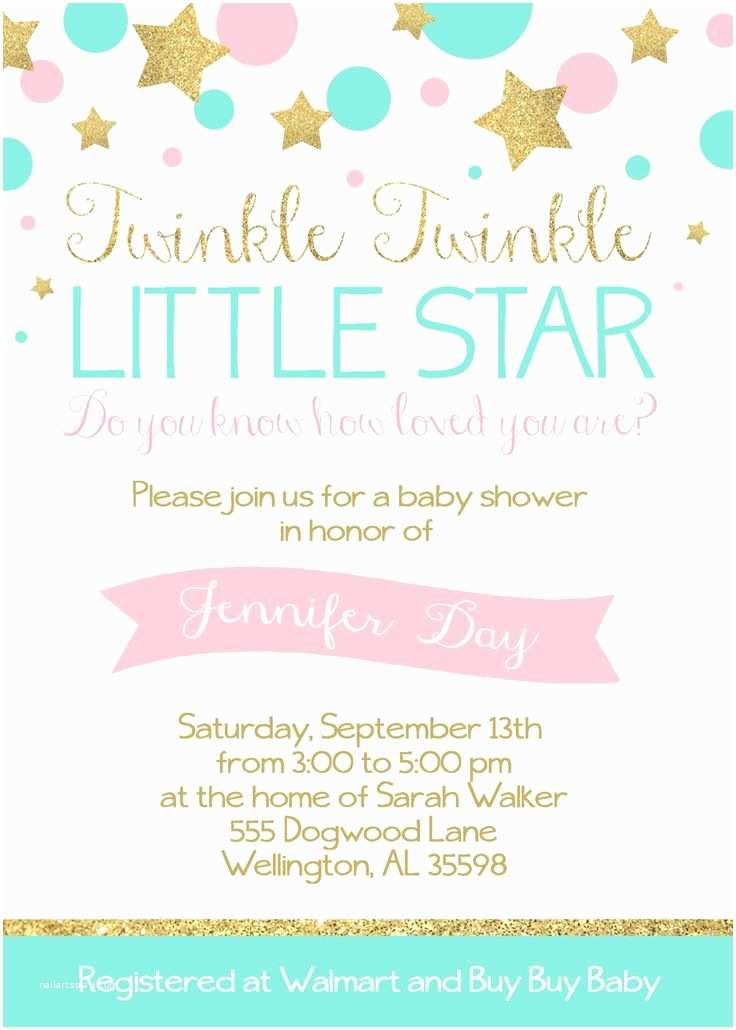Twinkle Twinkle Little Star Baby Shower Invitations Baby Shower Ideas 10 Handpicked Ideas to Discover In