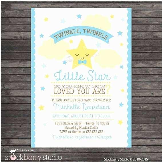 Twinkle Twinkle Little Star Baby Shower Invitations Boy Twinkle Twinkle Baby Shower Invitation Printable Boy