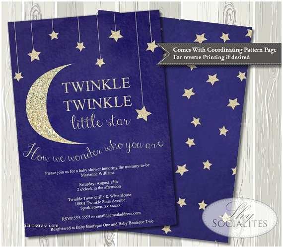 Twinkle Twinkle Little Star Baby Shower Invitations Twinkle Twinkle Little Star Baby Shower Invitation Baby
