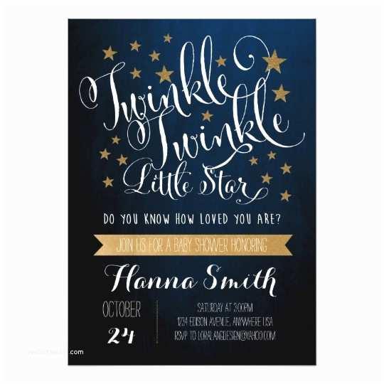 Twinkle Twinkle Little Star Baby Shower Invitations Twinkle Twinkle Little Star Baby Shower Invitation