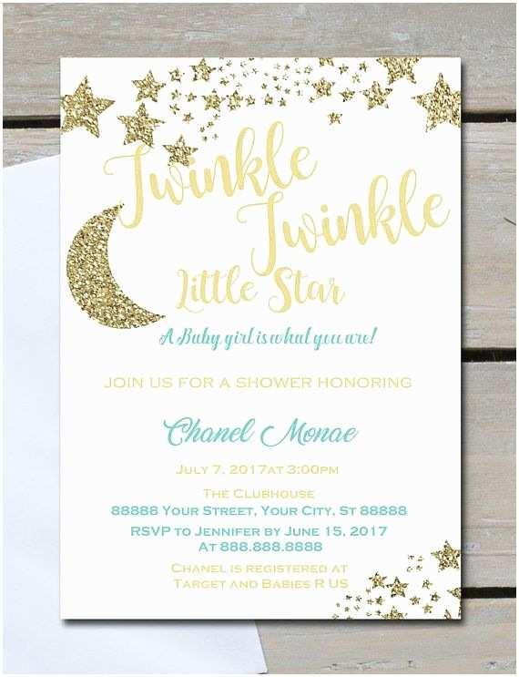 Twinkle Twinkle Little Star Baby Shower Invitations Twinkle Twinkle Little Star Baby Shower Invitationsany