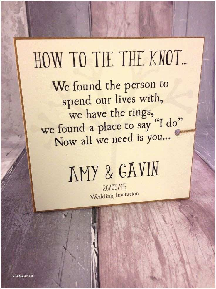Tying the Knot Wedding Invitations 17 Best Images About Invitations On Pinterest