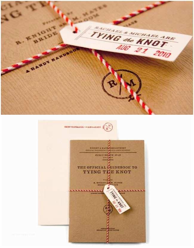 Tying the Knot Wedding Invitations More Creative Wedding Invitations