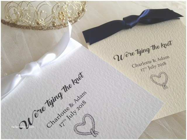 Tying the Knot Wedding Invitations Tying the Knot Wedding Invitations £1 25 Each